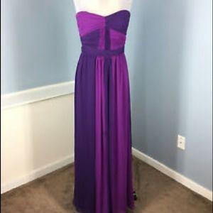 Max and Cleo BCBG purple chiffon  dress